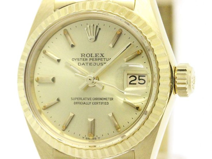 Polished Vintage #ROLEX Oyster Perpetual Date 6917 18K Gold Ladies Watch BF107520: All of #eLADY's items are inspected carefully by expert authenticators who have years of experience. For more pre-owned luxury brand items, visit http://global.elady.com