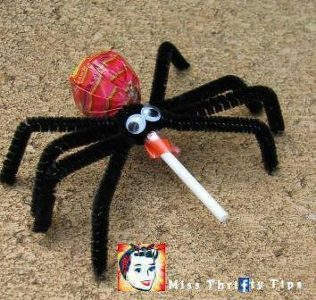 Spider lolly craft