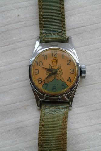 Vtg 1950s Cinderella Wrist Watch w D P Made in USA Disney ...