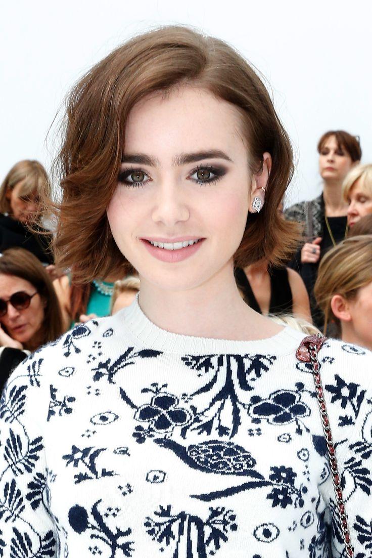 Il caschetto ondulato di Lily Collins - Hairadvisor #hairstyle #haircut #wavybob #brunette
