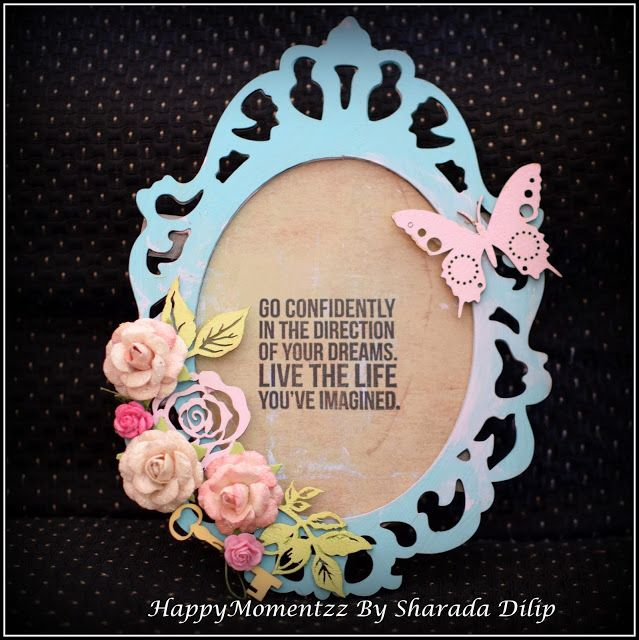 HappyMomentzz crafting by Sharada Dilip: Chalk painted Ornate frame
