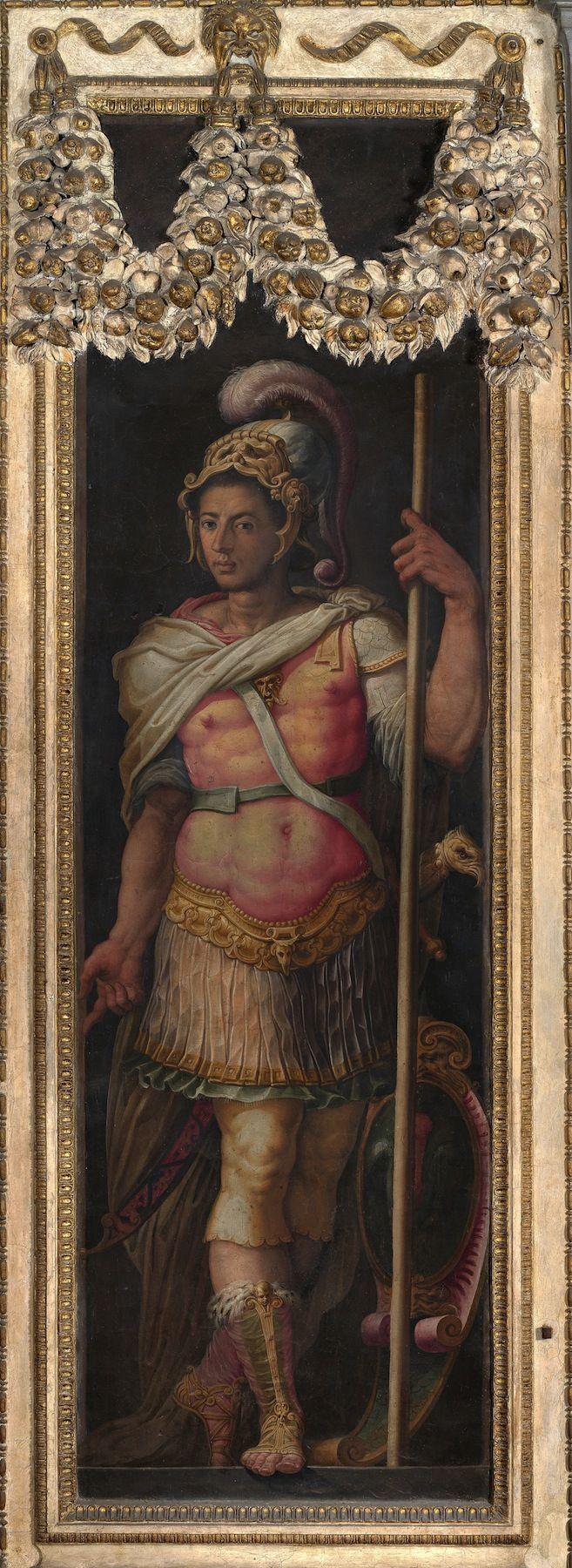 Giorgio Vasari Portrait of Alessandro de'Medici as Mars Italy (c. 1555) Fresco, 280 x 100 mm. Palazzo Vecchio Museum Alessandro de'Medici was the Duke of Florence 1530-37. His mother was Simonetta da...