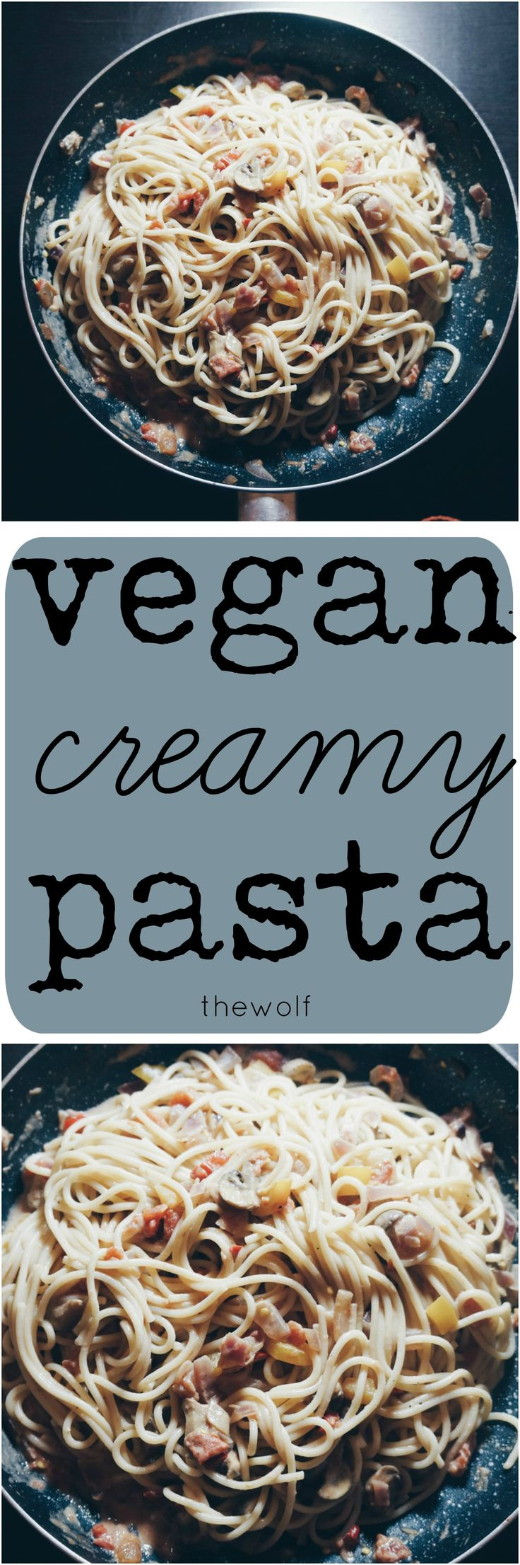 An easy recipe for creamy vegan pasta that anyone can make!