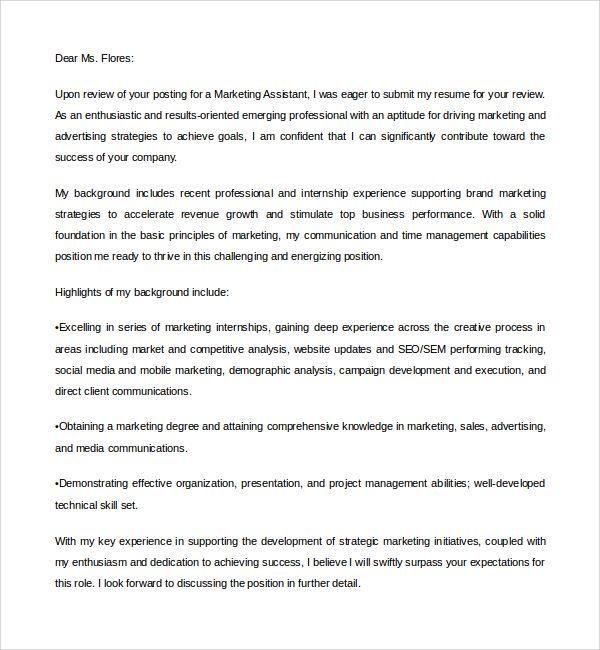 Cover Letter Template Digital Marketing Marketing Cover Letter