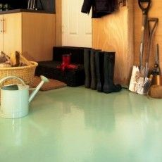 How to paint a concrete floor…