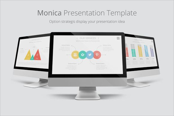 Monica Presentation Template by Ryanda on @creativemarket
