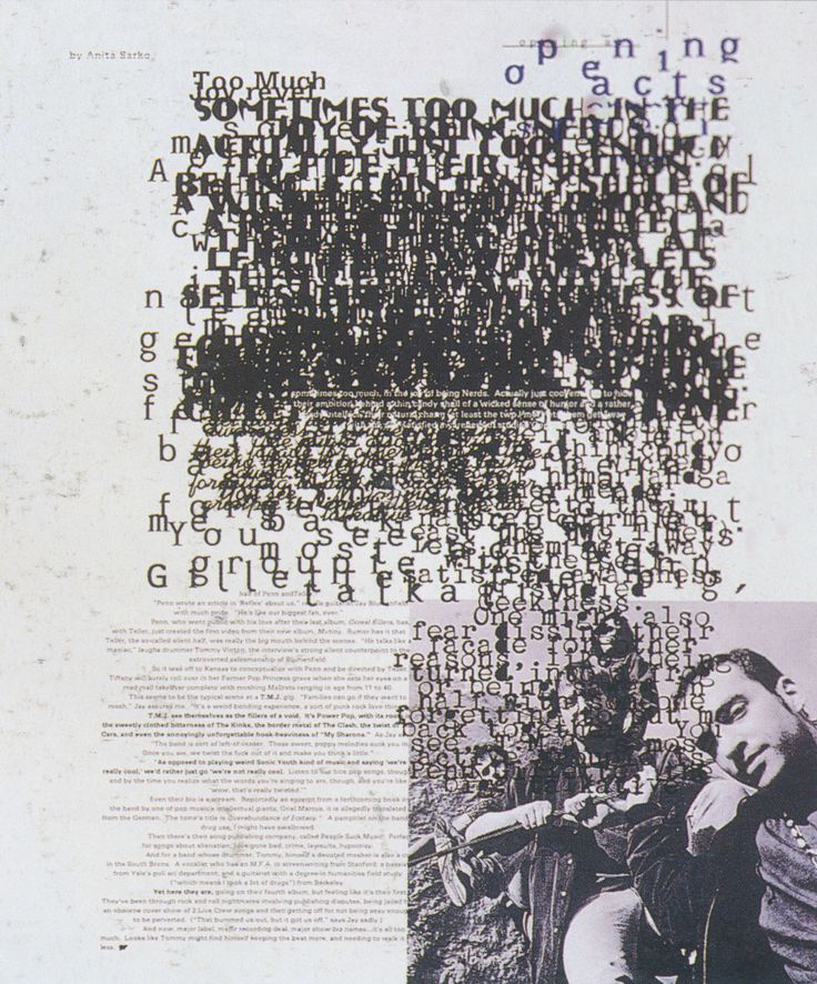 David Carson (designer), Ray Gun Too Much Joy feature, 1992