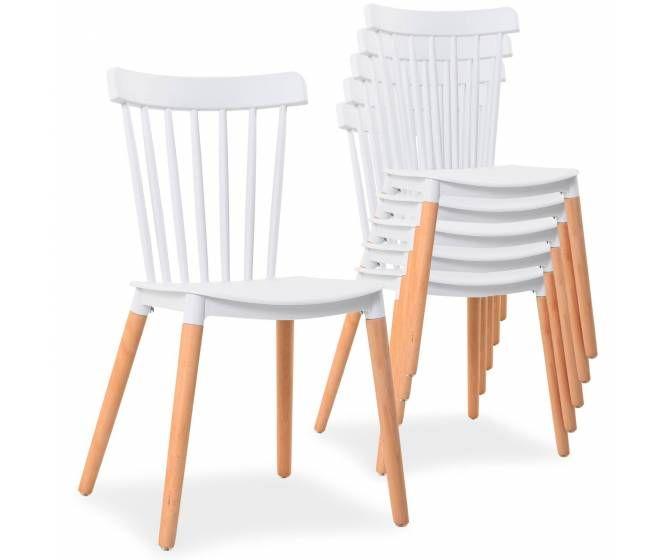 Craquez pour ce modèle de chaises design scandinave blanches