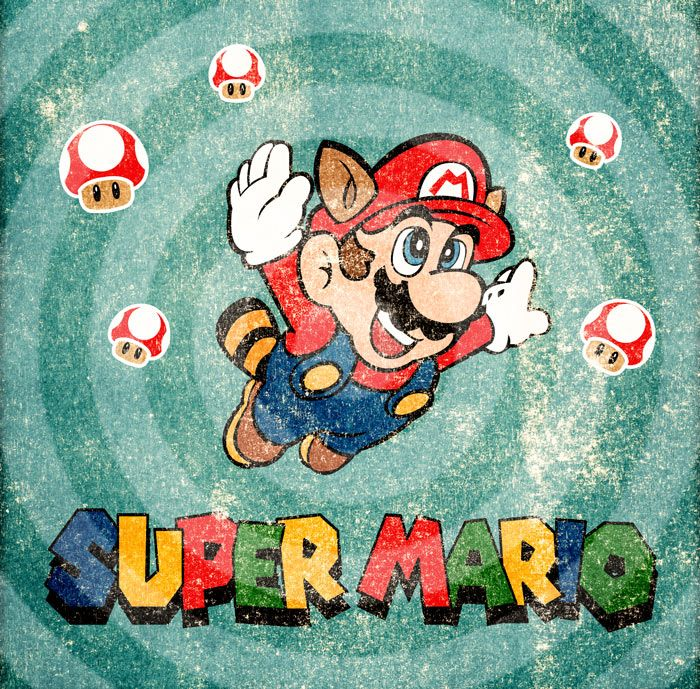 *** Illustration with Illustrator and Photoshop *** Personal Work #SUPER MARIO BROSS #overpress #excercise #retrò by LaurynBoc