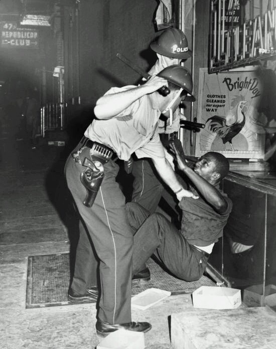 As black residents protest against racist laws, police respond with billy clubs, fire hoses and tear gas on Columbia Ave,  North Philadelphia 1964 #thestruggleisreal