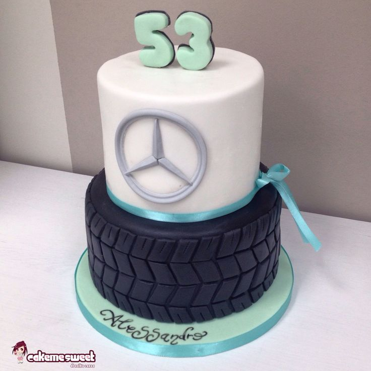 Tire Mercedes Car Cake By Cakemesweet