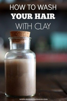 Clay hair wash shampoo