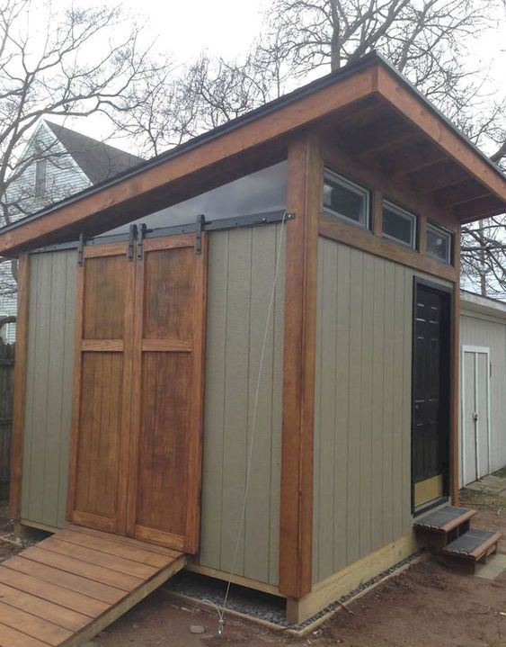 50 Amazing Backyard Storage Shed Design Ideas Backyard Storage