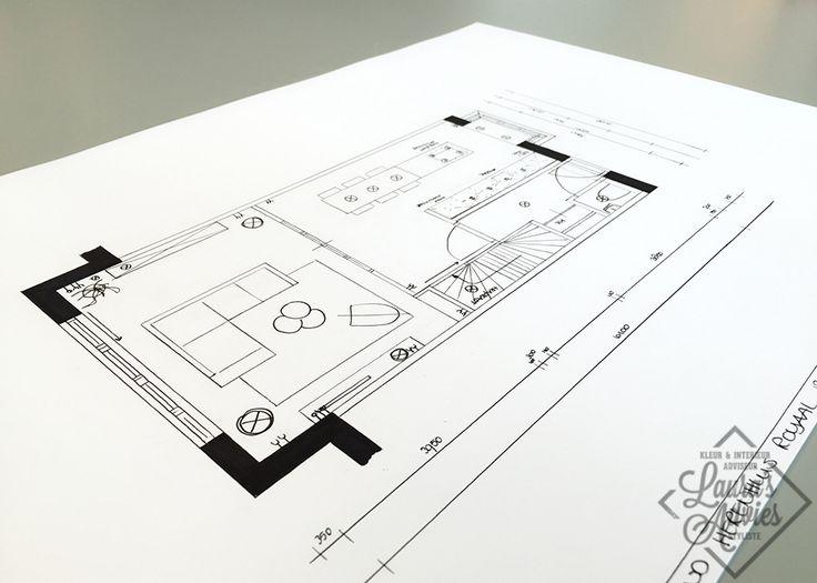 Technische tekening | Interieurontwerp nieuwbouwproject Koningsdaal Nijmegen
