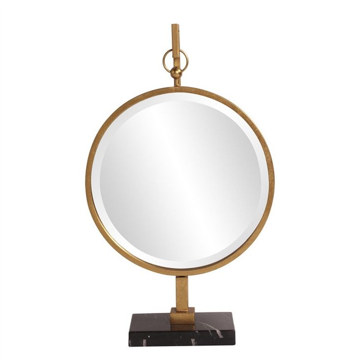 Gold Medallion Table Mirror