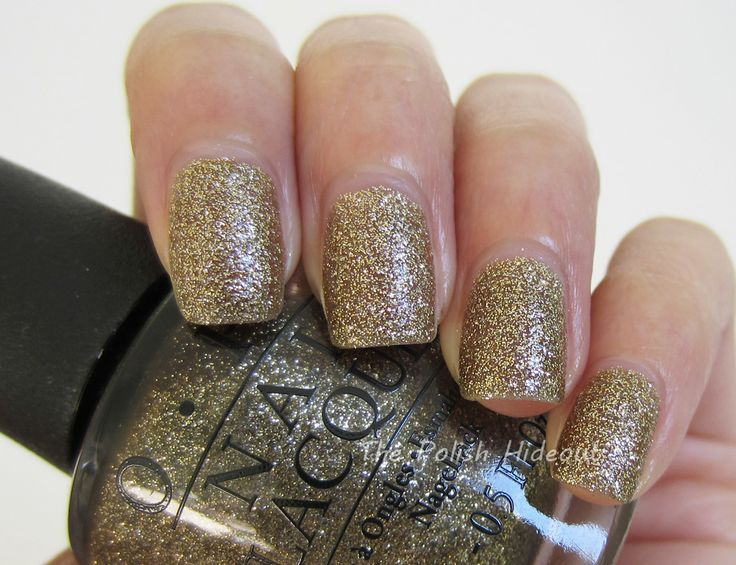 OPI All Sparkly and Gold - Mariah Carey Holiday 2013