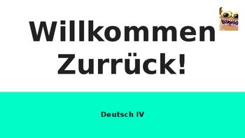 Beginning of the Year German Course Kick-off Questions