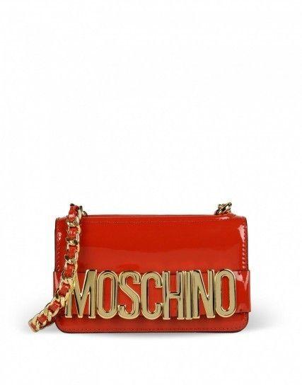 Clutch in vernice rossa Moschino