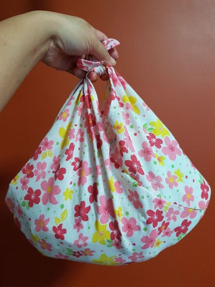 Sakura print Azuma Bukuro ❤❤hand-stitched entirely💚💚