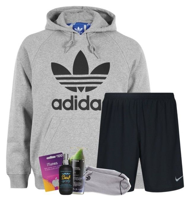 """""""Lazy Sunday afternoons"""" by dejonggirls ❤ liked on Polyvore featuring adidas, NIKE, Korres and Bumble and bumble"""