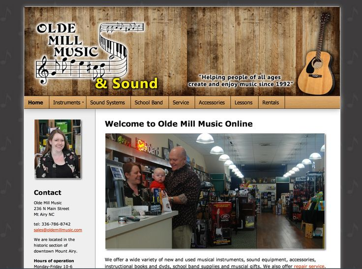 This was a redesign of a popular Mount Airy music store. If you visit Mount Airy, NC make sure you visit them on Main Street.