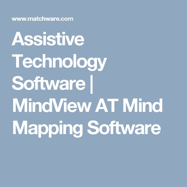 Assistive Technology Software | MindView AT Mind Mapping Software