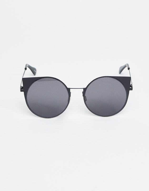 Gafas redondas cateye - Gafas de sol - Accesorios - Mujer - PULL&BEAR España