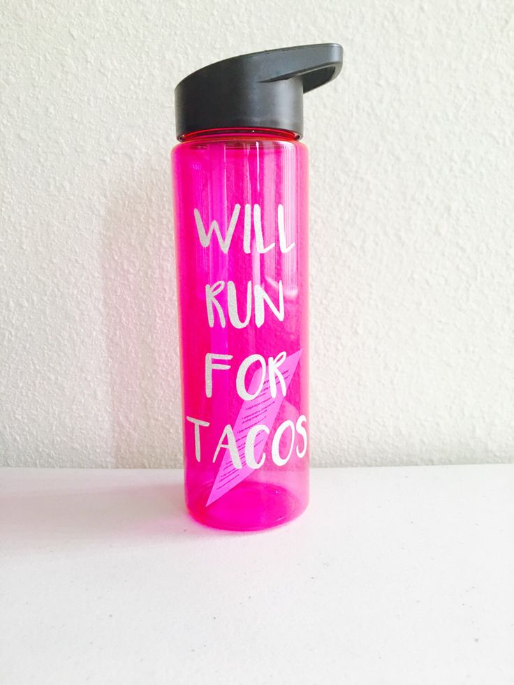 Will run for tacos water bottle fitness water bottles funny water bottles