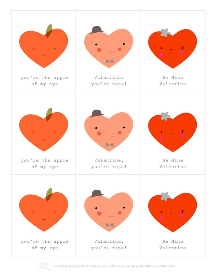 Free Printable Valentines | Mer Mag