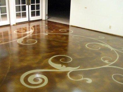 Concrete Floor Art Concrete Floors Floor Seasons Inc Las Vegas, NV. $8-15 per square foot. An upgraded stain job includes