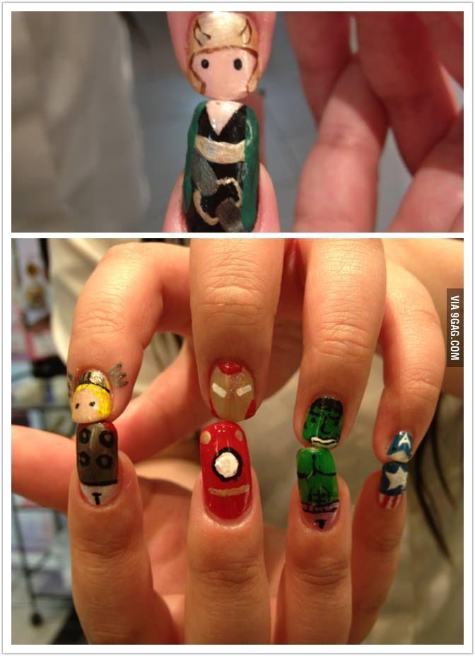 8 best Cartoon nail art images on Pinterest | Nail art ideas, Nail ...