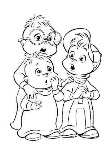 chipmunks coloring pages with flags - photo#12