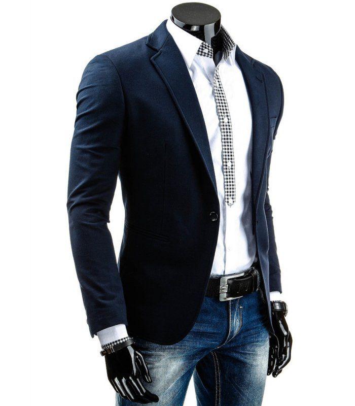 Elegantné pánske sako. Módny dizajn a jedinečný vzhľad. Dve vonkajšie a dve vnútorné vrecká. Pohodlné nosenie. Absolutný hit tejto sezóny. Perfektné pre každú príležitosť.