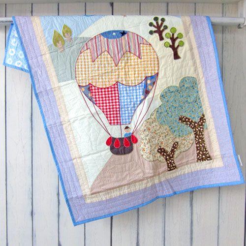 Baby Quilt Hot Air Balloon