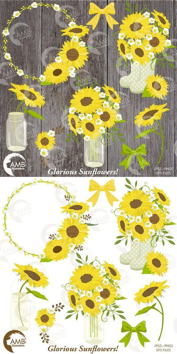 Sunflower Garden Clipart 1416 | Sunflower garden, Garden ...