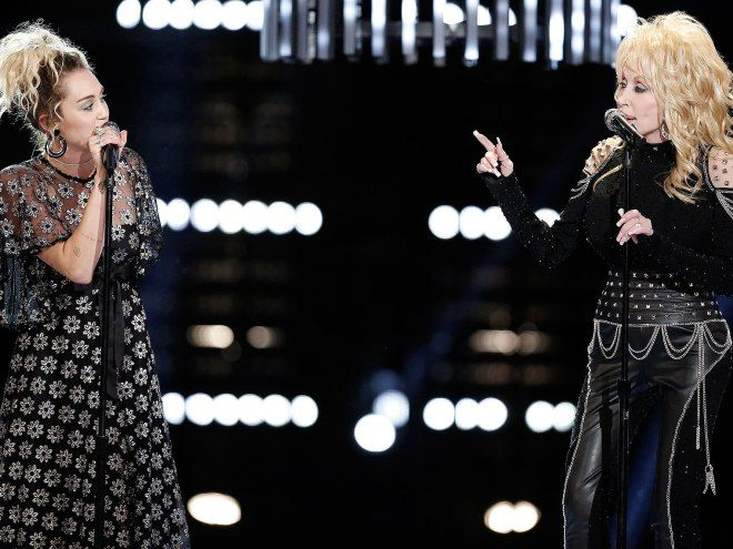 """Watch Miley Cyrus and Dolly Parton Sing """"Jolene"""" with ..."""