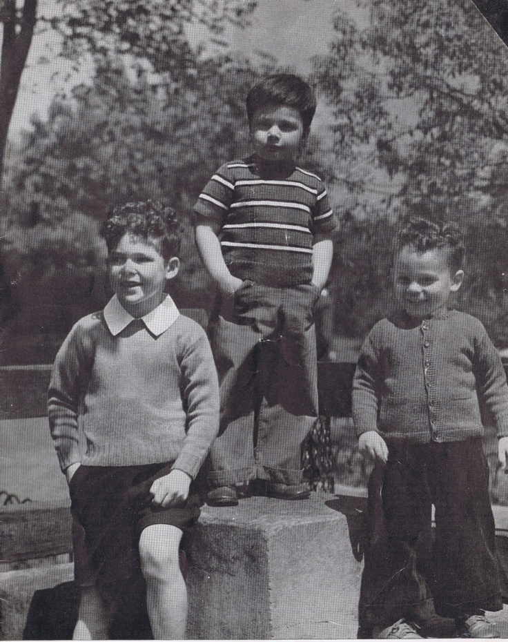 VINTAGE 40s KNITTING PATTERNS GIRLS BOYS MITTENS SLIPON CARDIGANS | eBay