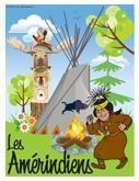 Programmation sur le thème des Amérindiens avec des activités éducatives; jeux, bricolages, coloriages, histoires, comptines, chansons, fiches d'activités imprimables.