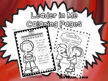 Reinforce the 7 habits (now 8) with these cute and fun coloring pages. On each page are some quick thoughts (in kid-friendly language) as to what each habit means. Hang these up in your room, on your students' lockers, in the hallway or use them to decorate your student's Leadership Notebooks (binders).