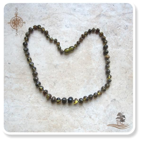 Baltic Amber - Light Green.  Available in 45cm.