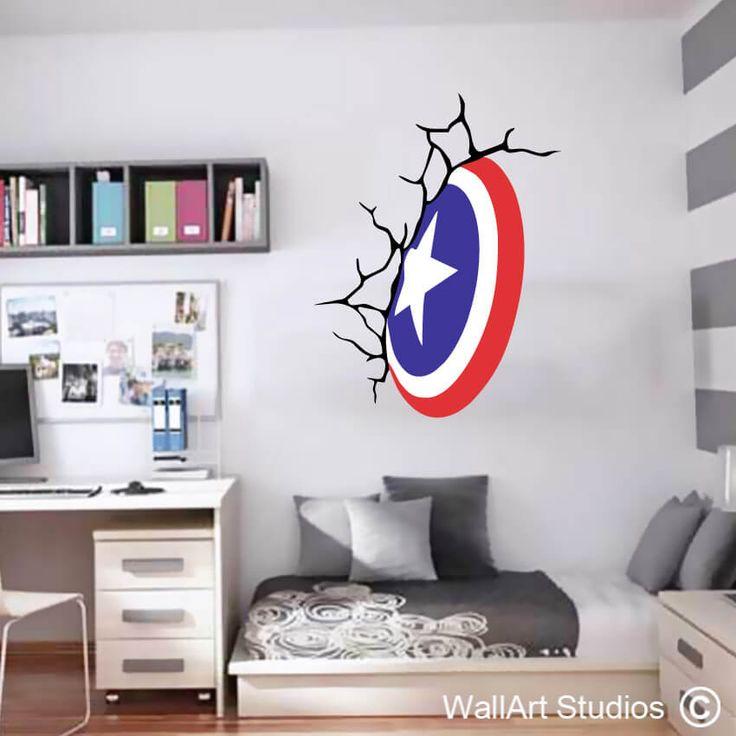 Captain America Shield Wall Art Decals Www.wallartstudios.com. All Custom  Made Part 53