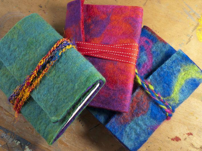 DIY Felt Covered Journals