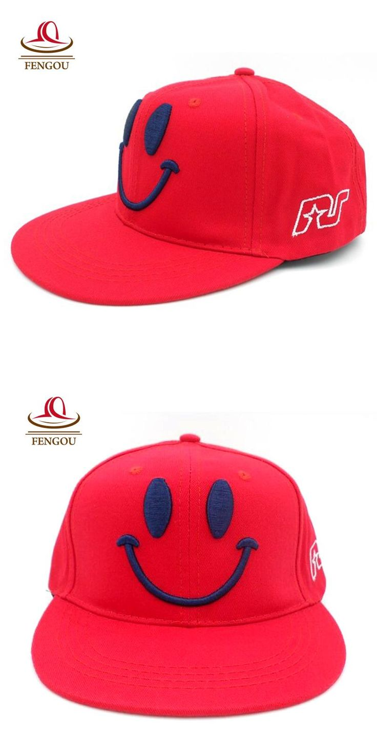 [Visit to Buy] Fashion Smiley Face Kids Baseball Caps Child Boy & Girls Hip Hop Cap Children Snapback Sun Caps Baseball Hats For Baby #Advertisement