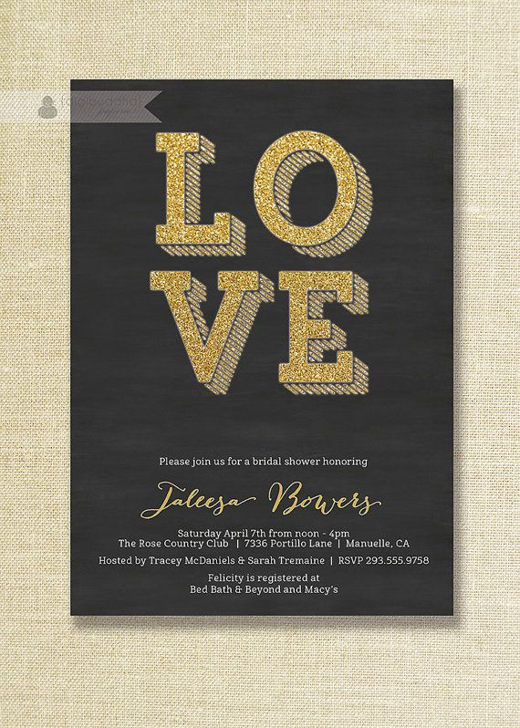 583 best invitations paper images on pinterest bachelorette black gold bridal shower invitation gold by digibuddhapaperie 2000 filmwisefo