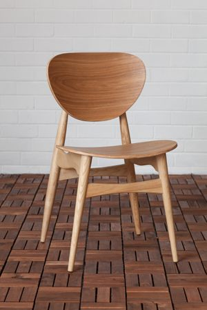 Potter Timber Dining Chair (Ash and Walnut) | lifeinteriors