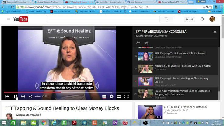EFT e Sound Healing per cancellare i blocchi sul Denaro