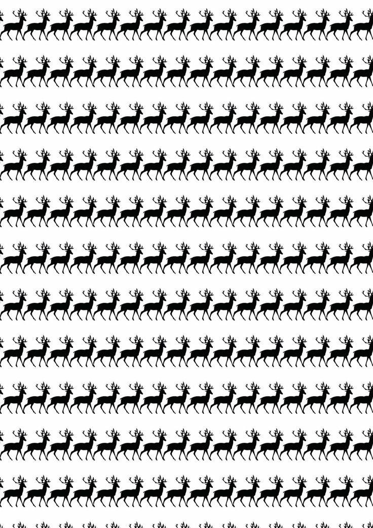 FREE printable stag or deer pattern paper ^^