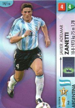 2006 Panini Germany World Cup #14 Javier Zanetti Front