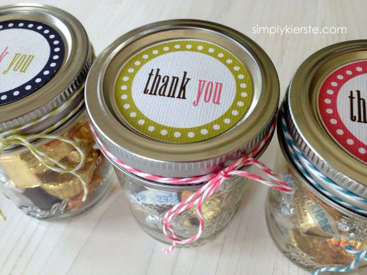 thank you notes | simplykierste.com  free thank you printables for mason jar lids...super cute!
