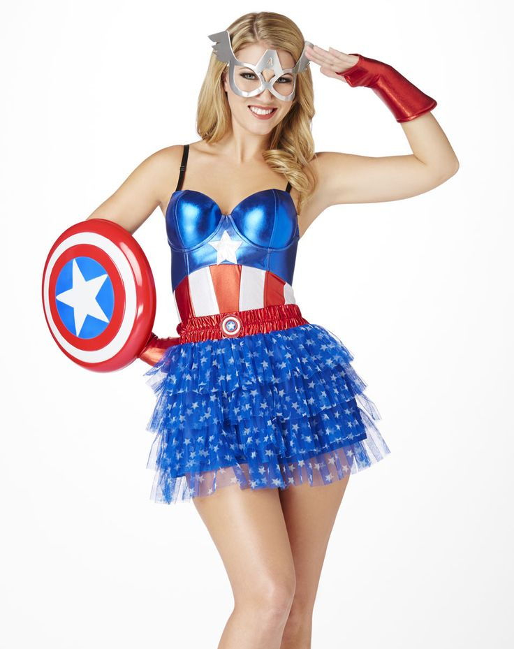 Captain America Corset u2013 Spirit Halloween. Spirit HalloweenWoman Halloween CostumesWomen ...  sc 1 st  Pinterest : captain america womens halloween costume  - Germanpascual.Com